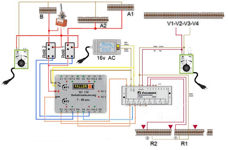 Circuito Xacobeo : Schemi elettrici modellismo ferroviario trenini