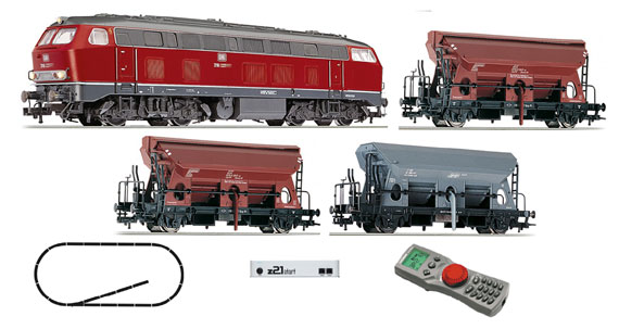 Start Set Digitale Z21: Loco Diesel BR 218 con treno merci DB