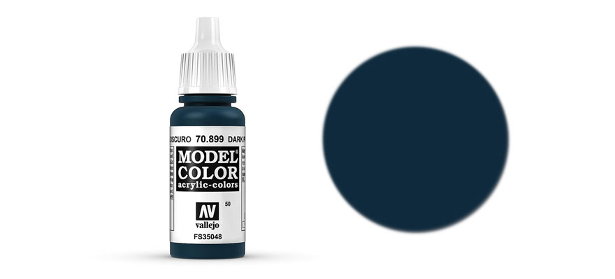 MODEL Color: Dark Prus. Blue - colore acrilico 17 ml