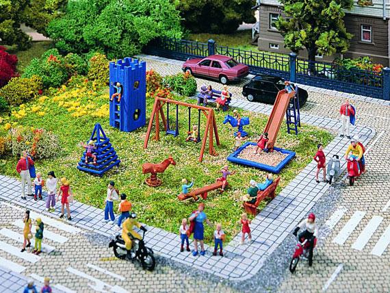 CSN Vollmer 43665 - Parco giochi per bambini Scala H0 - Parchi divertimento e Zoo
