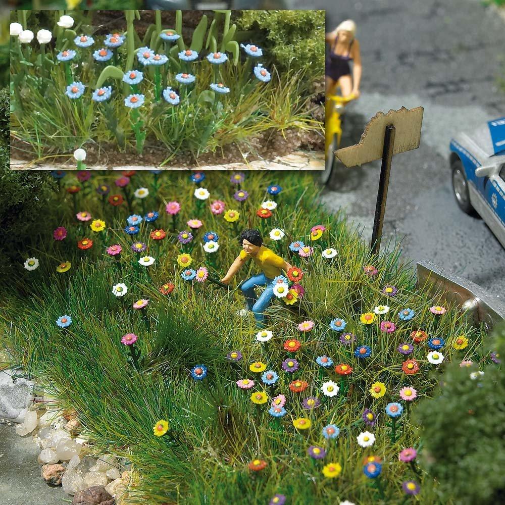 Csn busch 1229 fiori estivi 120pz scala h0 piante e fiori for Fiori estivi perenni